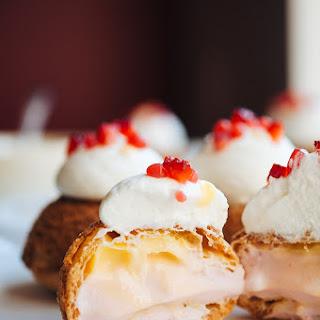 Strawberry, Passion Fruit, and Yogurt Cream Puffs