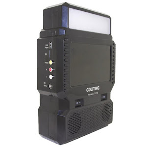 Kit solar GD8086 Antena TV Radio FM USB MP3 si 3 becuri