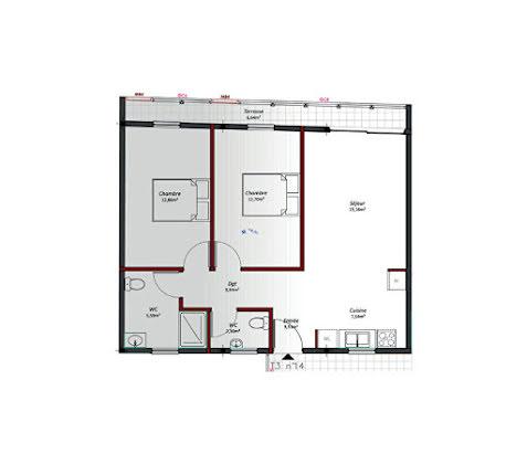Location appartement 3 pièces 63,22 m2