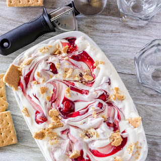 Easy Cherry Cheesecake Ice Cream (No-Churn!) Recipe