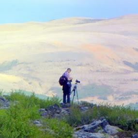 Myndað ofan við Hraunfossa by Albert Ingi Ingimundarson - Landscapes Travel