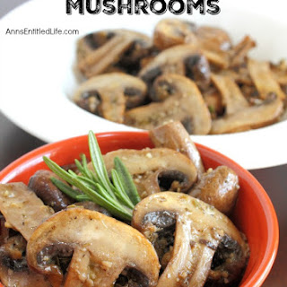 Roasted Rosemary Mushrooms
