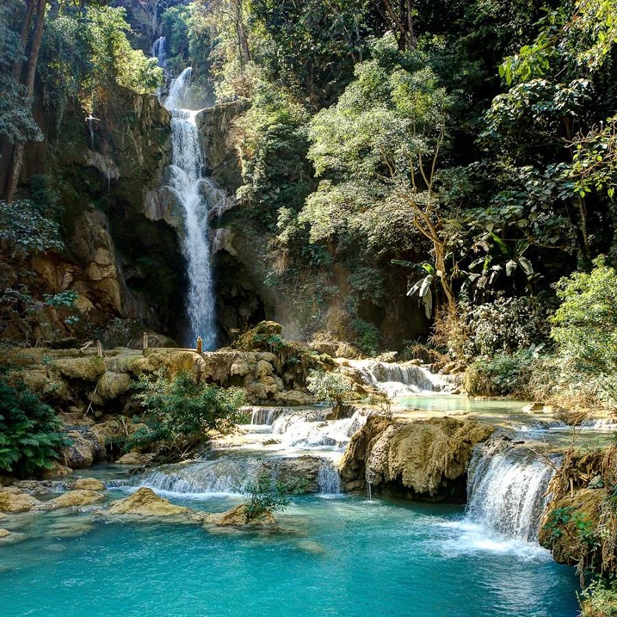 Cascade au Laos by Olivier Tabary - Landscapes Travel ( cascade, forêt, eau )