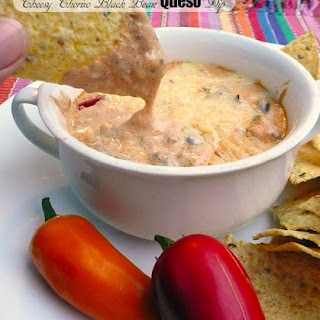 Cheesy Chorizo Black Bean Queso Dip