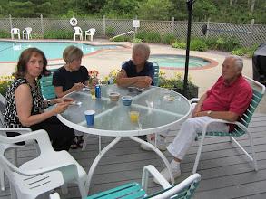 Photo: At the pool:  Jana, Nancy, DJ, and Lewis.