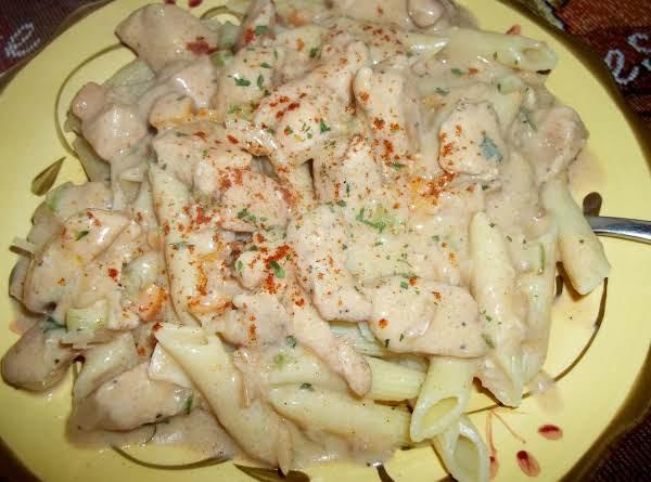Chicken  W/ Sour Cream Sauce Over Penne - Cass's Recipe