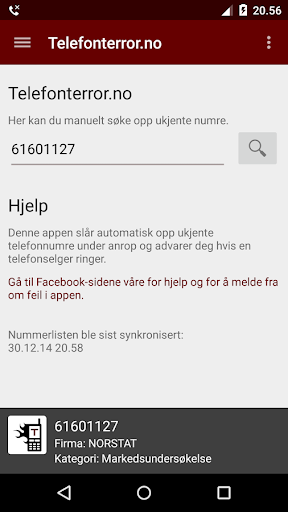 Arkivert: Telefonterror.no screenshot