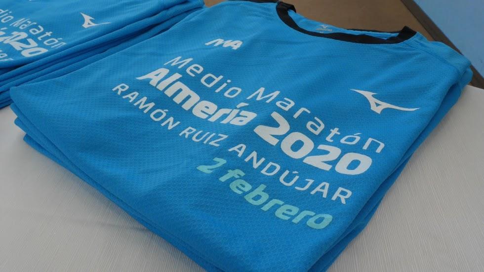 La camiseta de la Media Maratón.