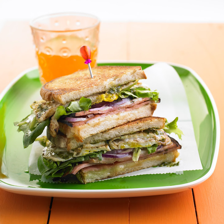 Ham Sandwich with Greens and Eggs Recipe