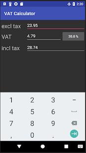 VAT Calculator - náhled