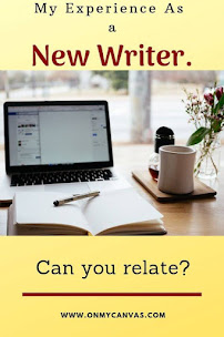 pinterest image for article on the journey and struggles of a new writer
