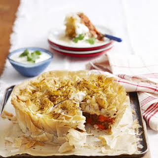 Lamb and Barley Phyllo Pie.