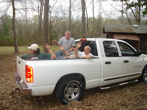 Photo: After a hard day's work the guys had to ride home in a pickup because their Church Van brakes failed.