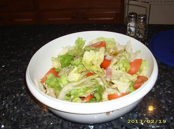 Finished Salad, Ready To Go!