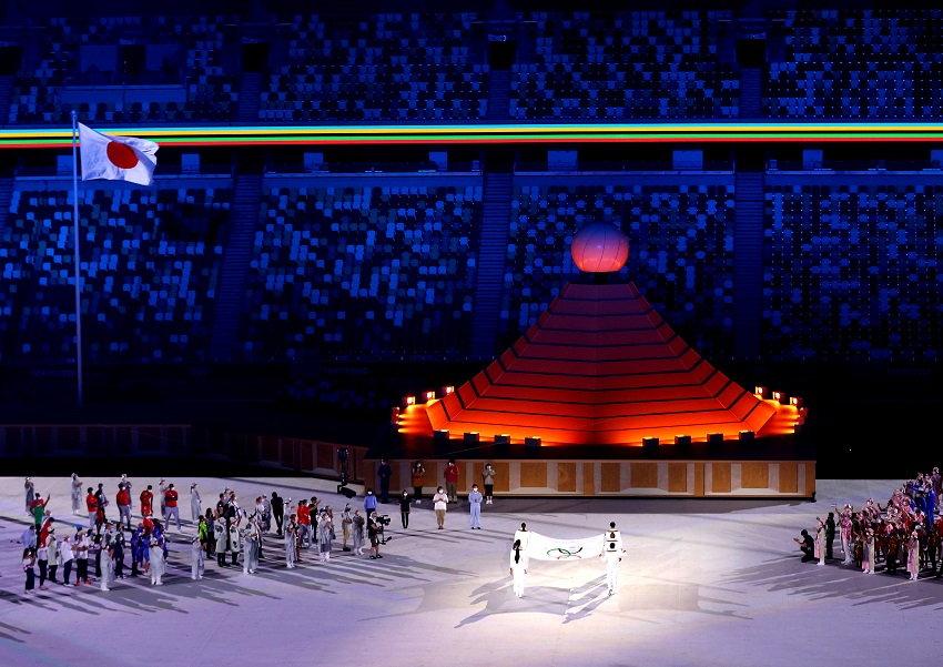 Athletes parade in empty stadium as Tokyo Games open in shadow of pandemic
