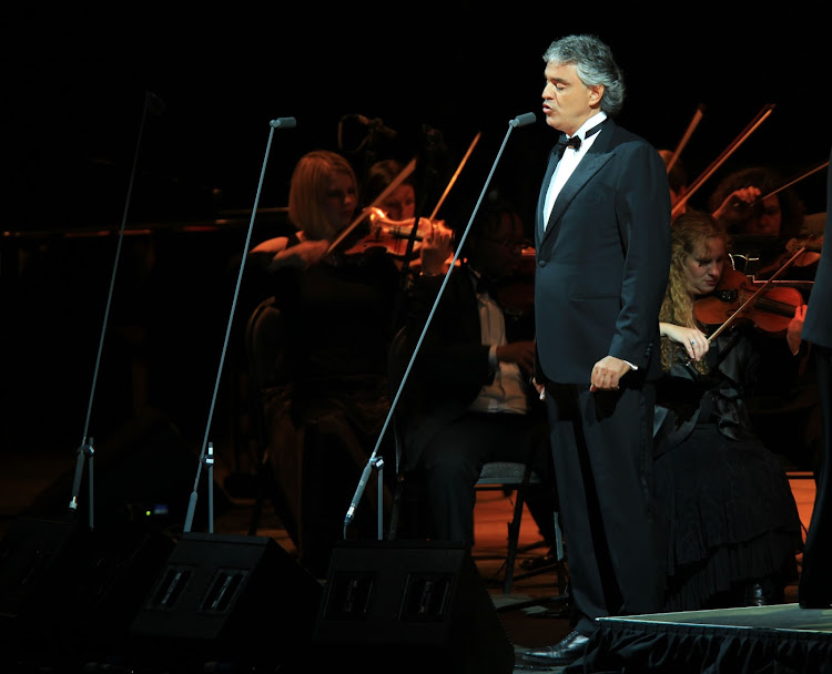 Andrea Bocelli performing during the Grand Finale concert at the Dome in Johannesburg in 2010. The Italian iconic musician has teamed up with Ed Shereen on a duet that will make you swoon.