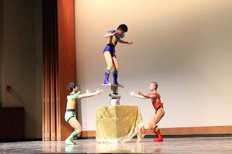 Photo: Co-host the CAGD acrobatic show. Scene 2.