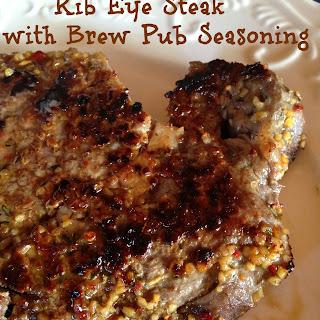Rib-Eye with Brew Pub Seasoning Blend