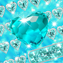 Blue Heart Diamond keyboard icon