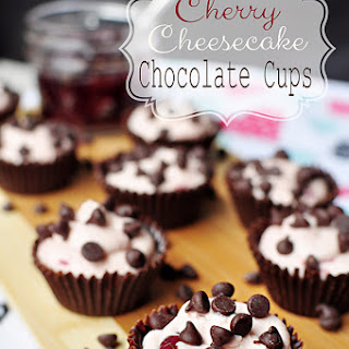 Cherry Cheesecake Chocolate Cups ~ A Perfect Valentine's Dessert!
