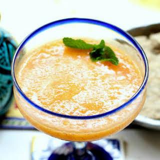 Healthier Frozen Peach Margarita.
