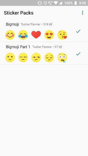 Bigmoji - WAStickerApp 0.7 screenshots 1
