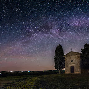 Tuscany by Michael Strobl - Landscapes Starscapes ( milkyway, tuscany, stars, landscapes, italy )