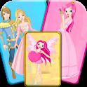 princess memory match up game icon