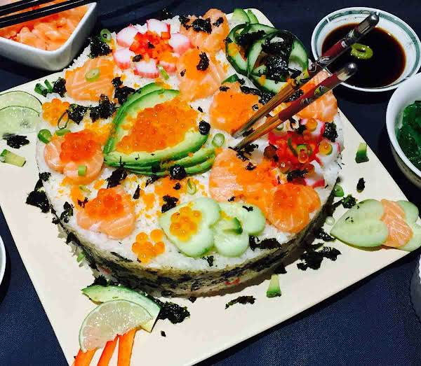 Homemade Sushi Cake Recipe