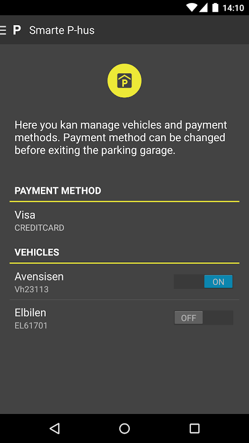 SmartPark- screenshot