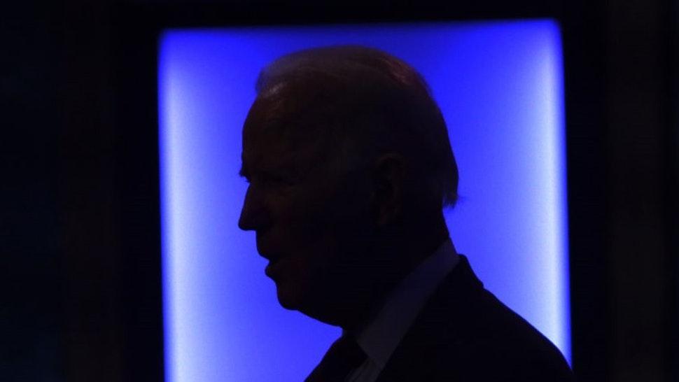 WILMINGTON, DELAWARE - SEPTEMBER 27: Democratic presidential nominee Joe Biden speaks during a campaign event on September 27, 2020 in Wilmington, Delaware. Biden spoke on President Trump's new U.S. Supreme Court nomination. (Photo by