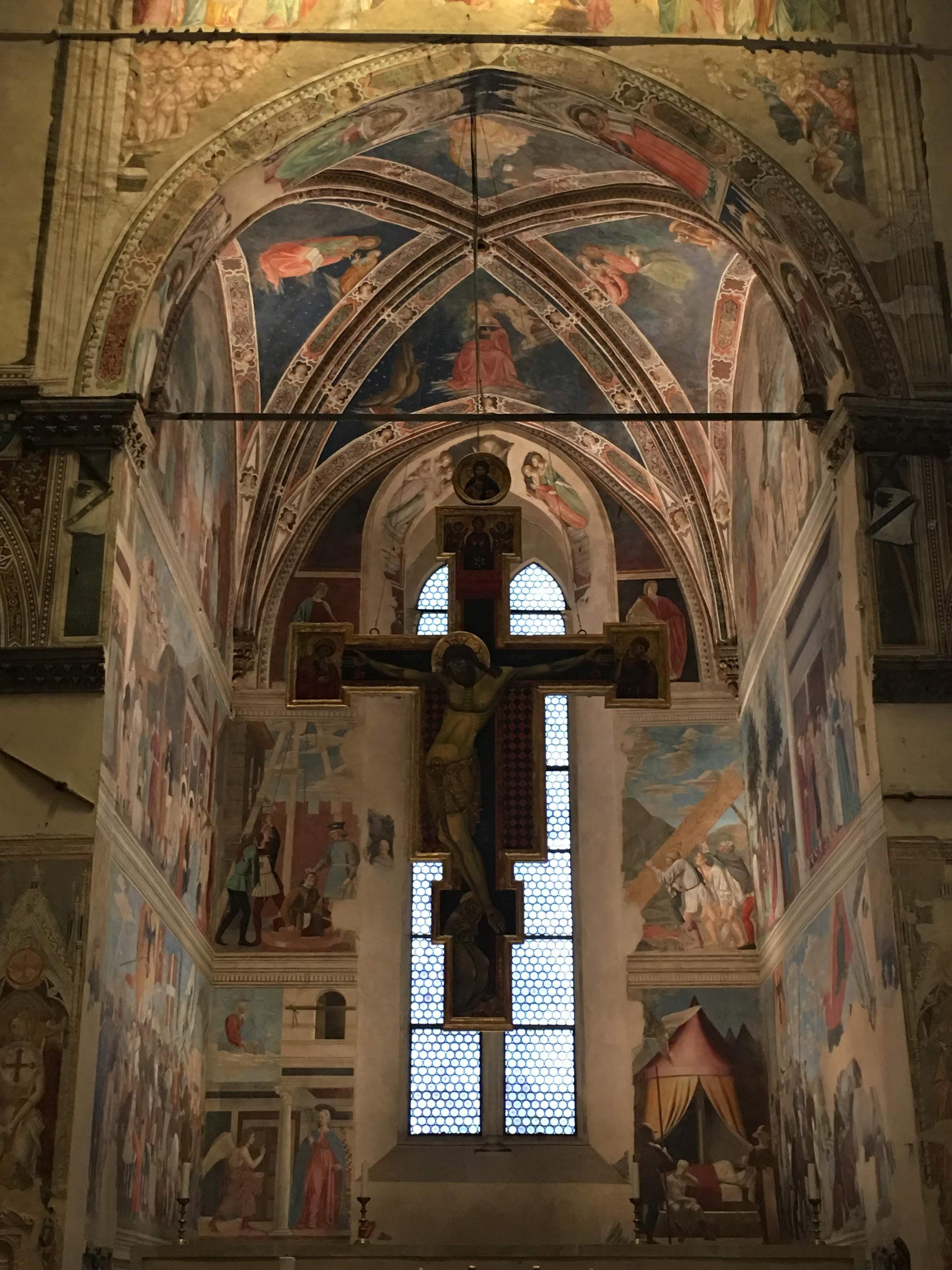 La Capella Bacci nella Basilica di San Francesco, con Le Storie della Vera Croce di Piero della Francesca