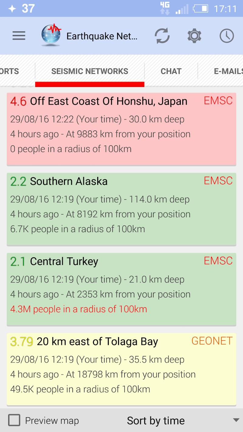 🚨 Earthquake Network Pro - Realtime alerts Screenshot 1