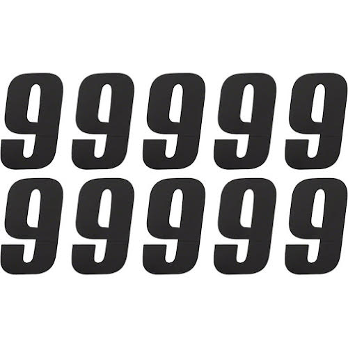 Tangent # 9 Side Plate Numbers - 10/Pack, Black