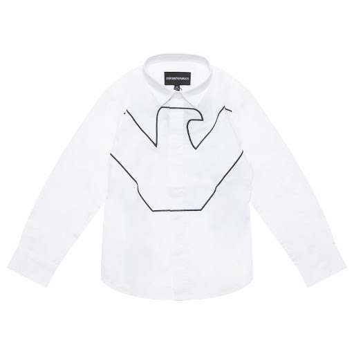 Primary image of Emporio Armani Boys Logo Embroidered Shirt