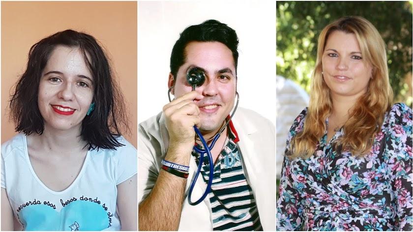 Aurora Soto, Alberto Romero y Diana Jiménez.