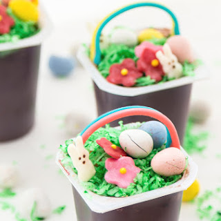 Easter Basket Pudding Cups.