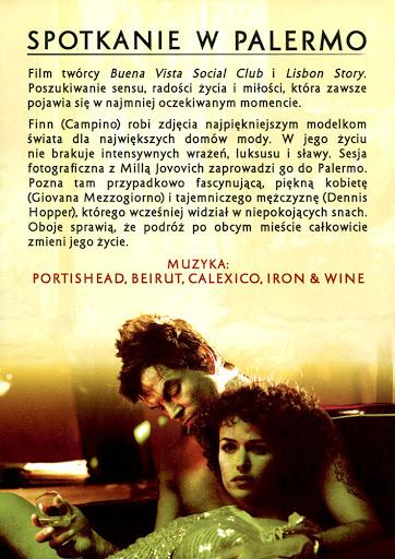 Tył ulotki filmu 'Spotkanie W Palermo'