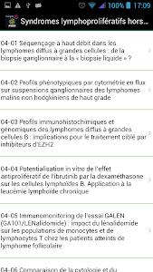 Hématologie congrès SFH 2015 screenshot 3