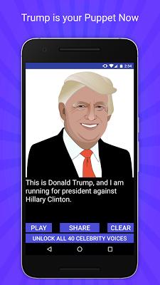 Trump 2016 Voice Changer TTS - screenshot