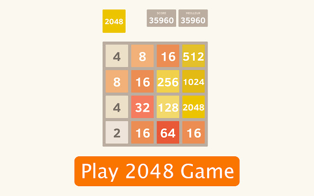 Classic 2048 Online Game