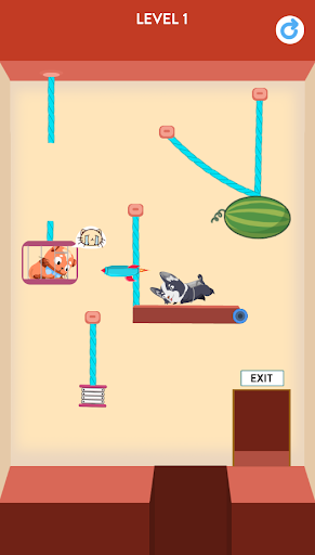 Rescue Kitten - Rope Puzzle apkmind screenshots 6