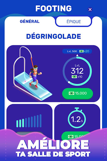 Code Triche Idle Fitness Gym Tycoon - Workout Simulator Game APK MOD screenshots 3