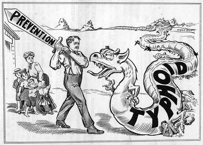 typhoid-mary-political-cartoon - The Bowery Boys: New York City History