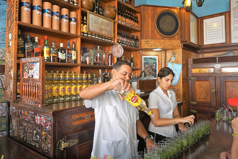 Inside Bodeguita del Medio, a drinking spot and eatery that claims to be the birthplace of the mojito.
