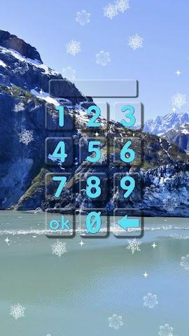 android Winter-Sperre Bildschirm. Screenshot 1