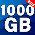 Storage 1000gb and backup prank icon