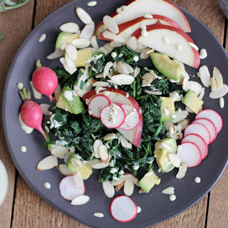 Pear Salad Recipe with Sautéed Spinach