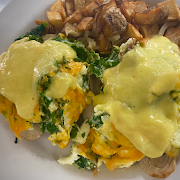 Eggs Benedict with Homemade Hollandaise Sauce with A.J.'S