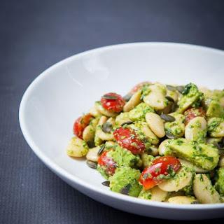Butterbean Salad With Avocado, Tomato and Pesto.